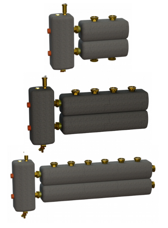 Гидрострелка с раздельным коллектором