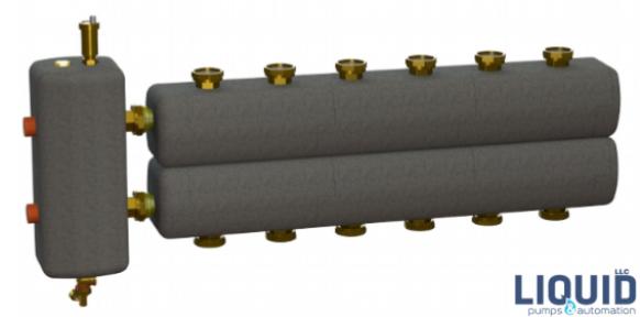 Коллектор в комплекте с гидрострелкой  ОКС-РР-3-6-К-НГ-і
