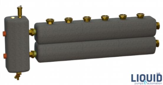 Коллектор в комплекте с гидрострелкой  ОКС-РР-6-4-ВН-НГ-і