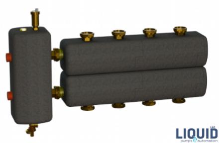 Коллектор в комплекте с гидрострелкой  ОКС-РР-2-4-К-НГ-і